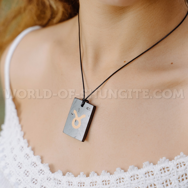 """Shungite pendant """"Taurus"""""""