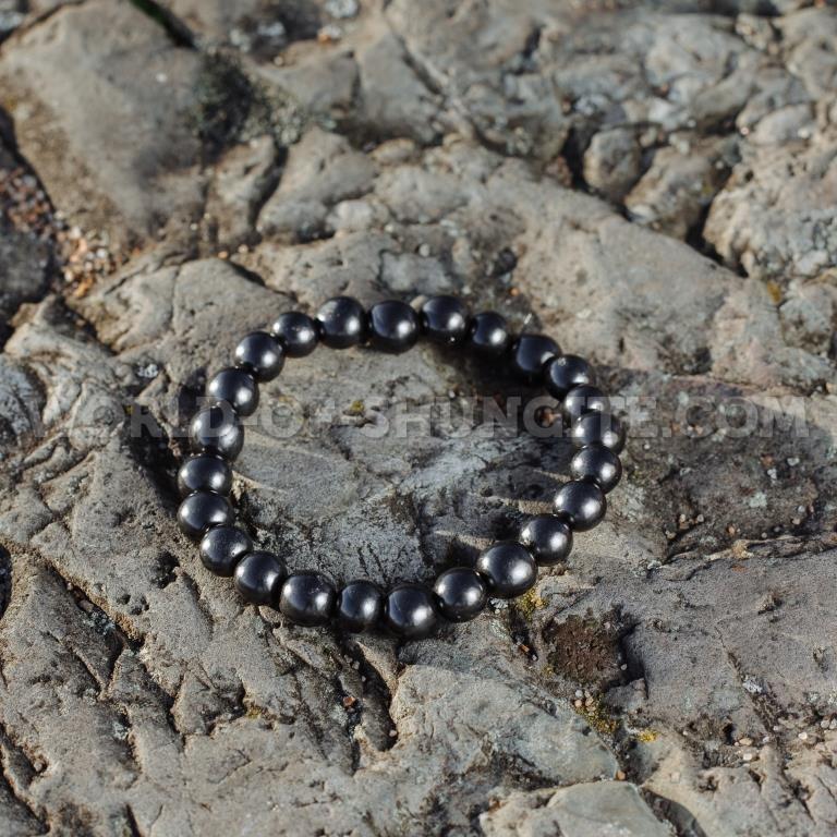 Shungite stretchy bracelet 12mm