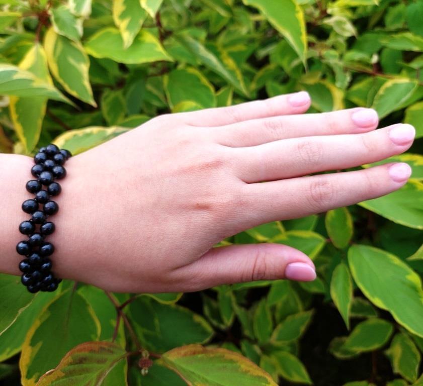 Shungite bracelet Hydrangea