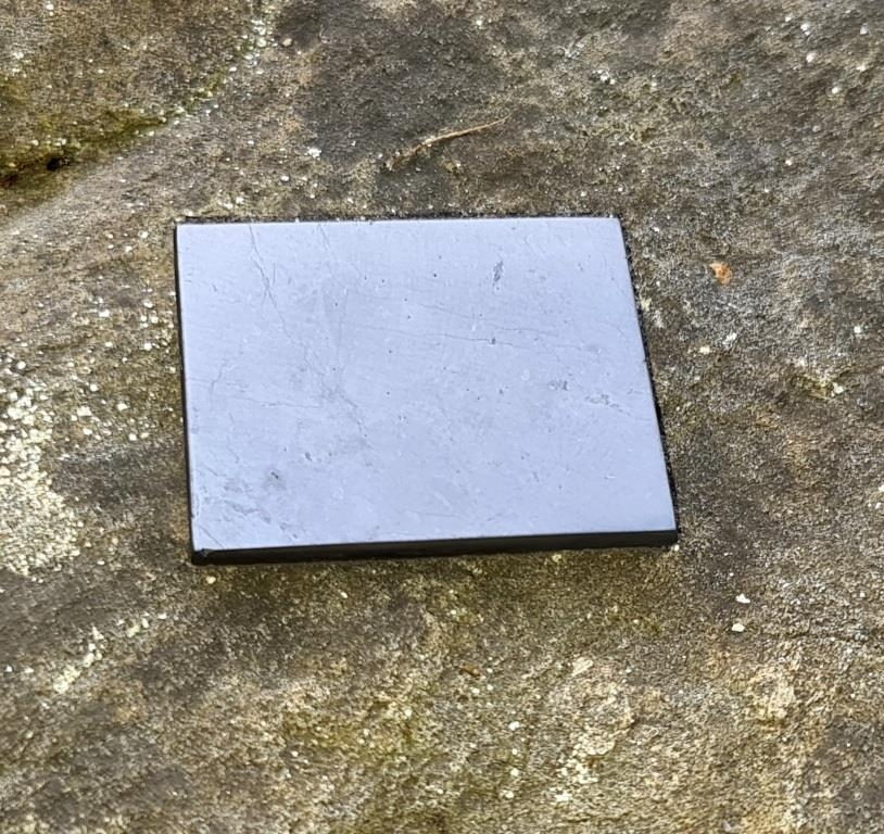 Shungite polished plaque with magnet 40x50mm