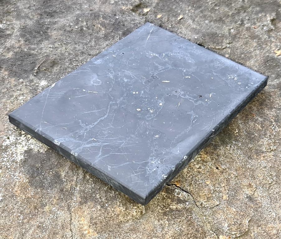 Shungite unpolished tile 9x12cm