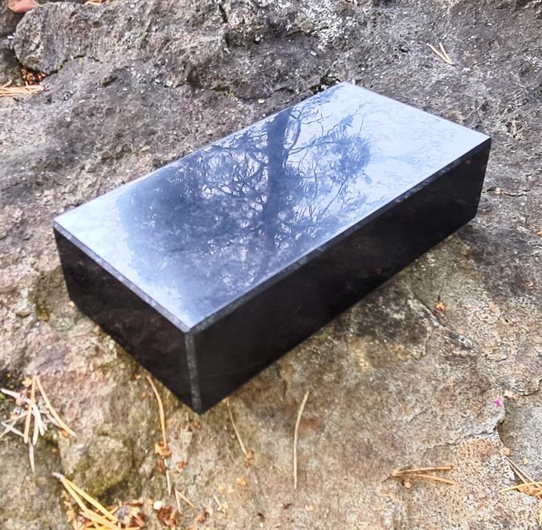 Shungite polished brick