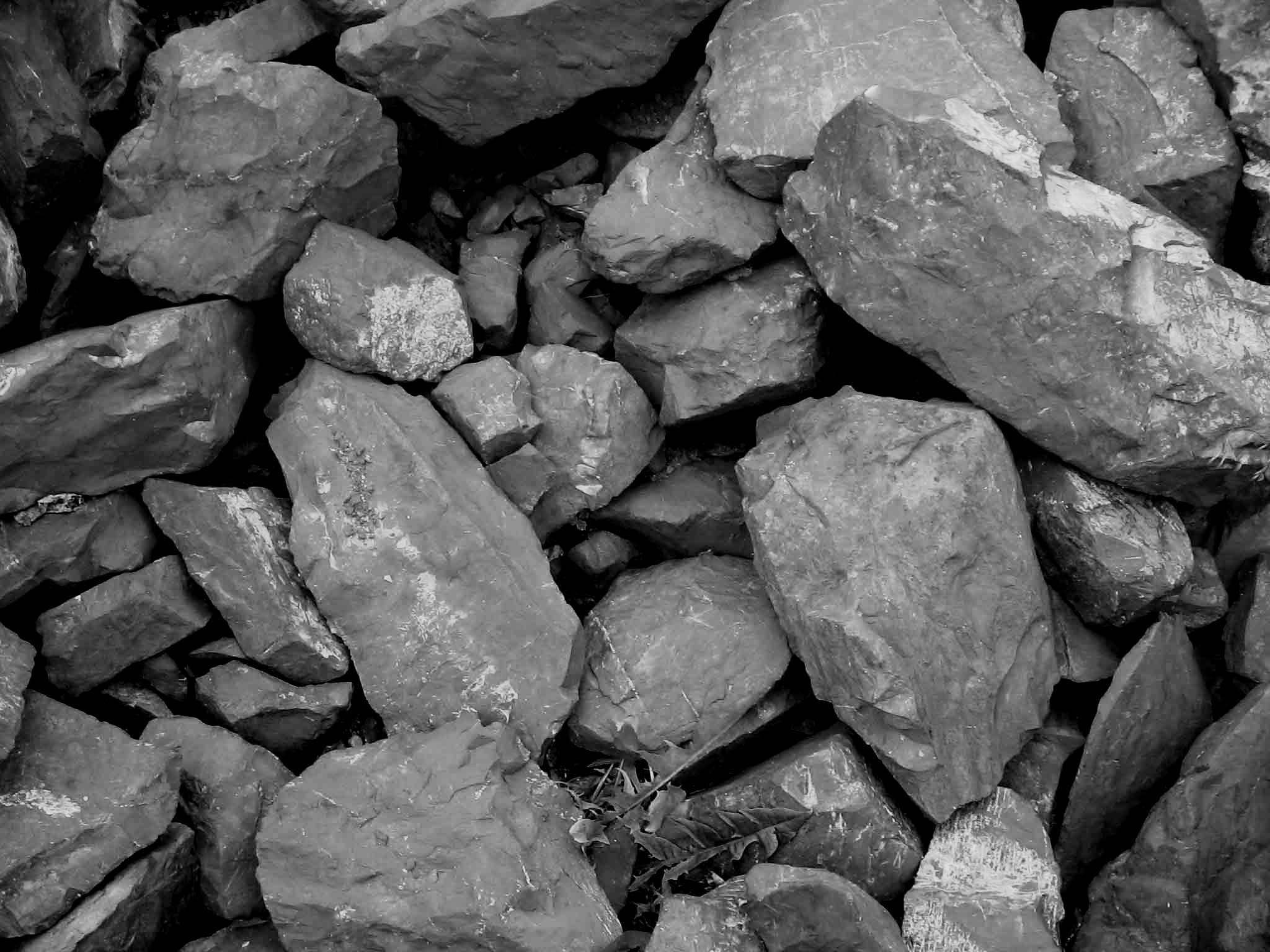 Raw stone for landscape