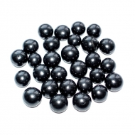 Polished placer of beads
