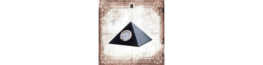 Pyramids with clock